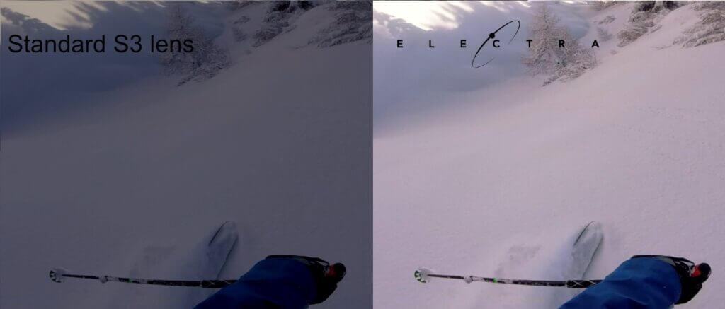 Electra di Out Of la maschera elettronica per sciare e fare snowboard