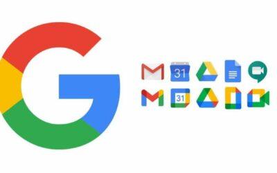 vecchie e nuove icone app Google workspace
