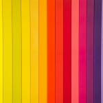 Una grafica che presenta molte striature di colori diversi